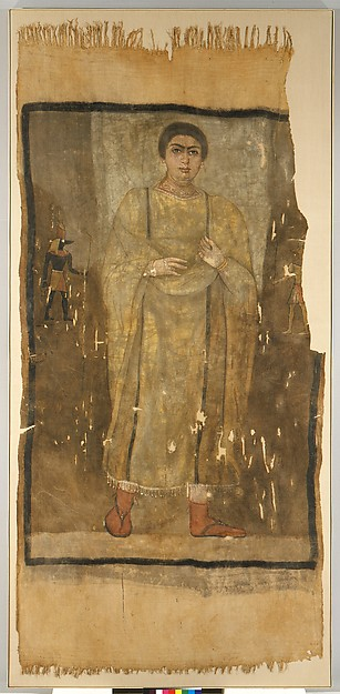 Shroud of a Woman Wearing a Fringed Tunic